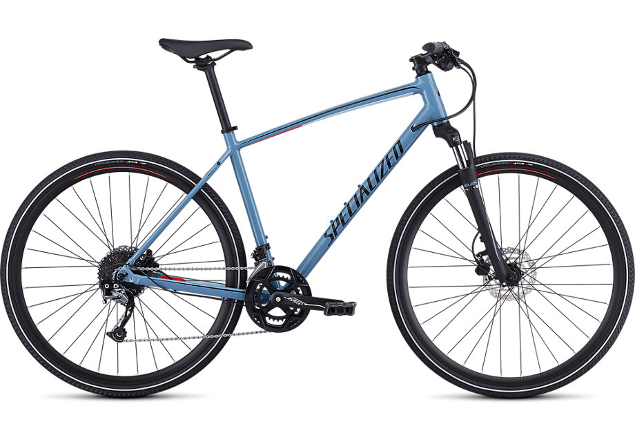 trekingové kolo Specialized Crosstrail Sport 2019 gloss gray/red