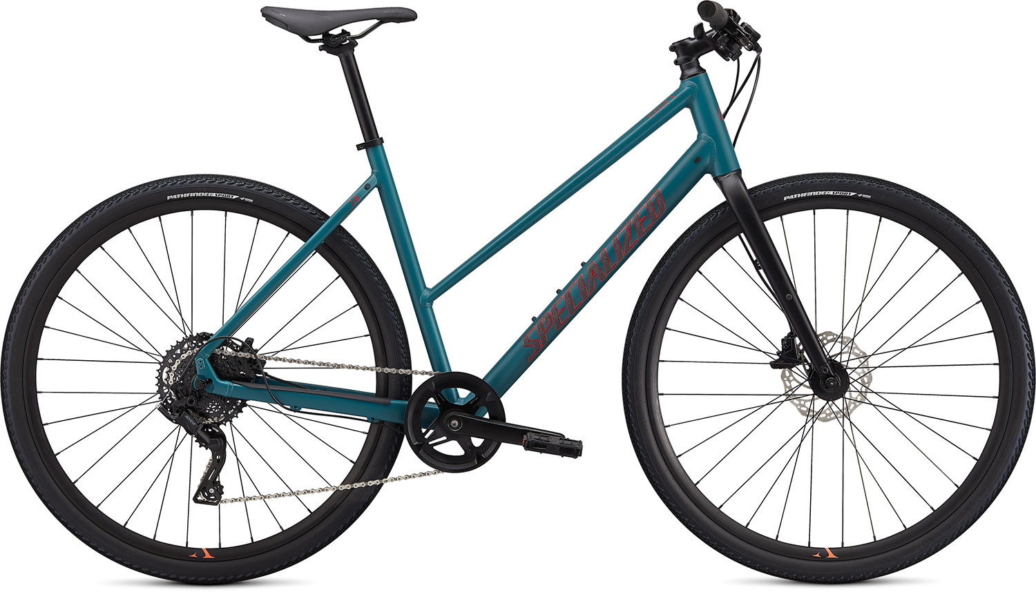 fitness kolo Specialized Sirrus X Step Through 2.0  2020 turquoise/red/black