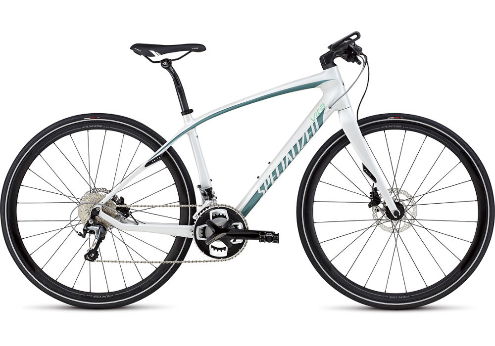dámské fitness kolo Specialized Vita Comp Carbon Disc 2016 gloss white/turquoise/charcoal