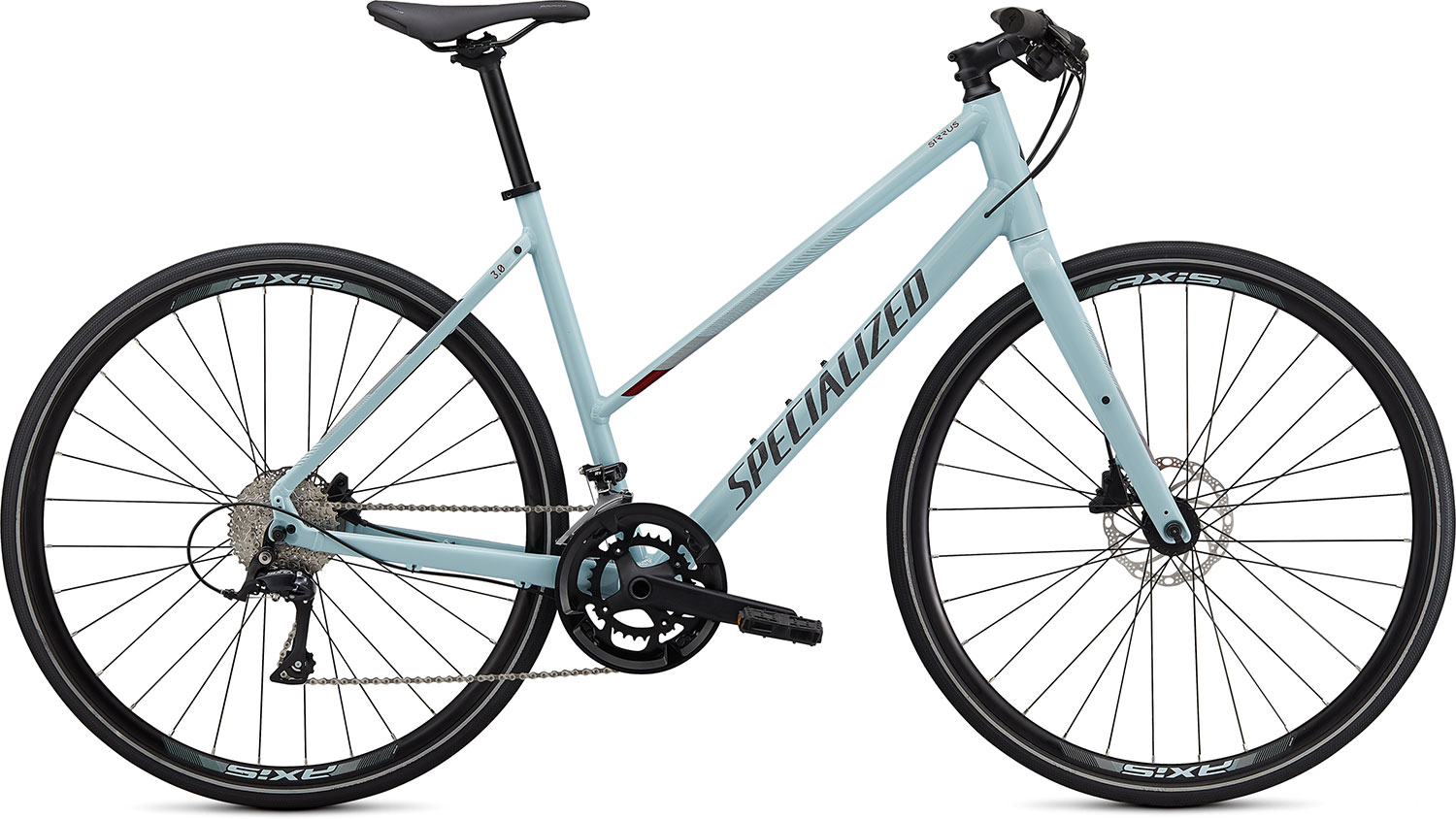 fitness kolo Specialized Sirrus 3.0 Step Through 2020 gloss blue/crimson
