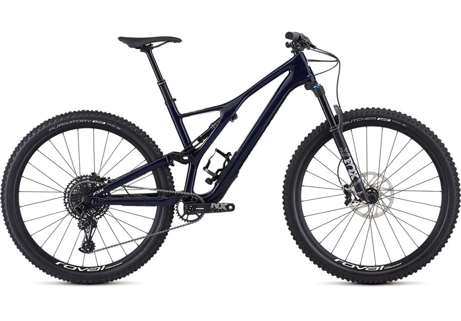 "horské kolo Specialized Stumpjumper FSR ST Comp Carbon 29"" 2019 gloss blue carbon/white"