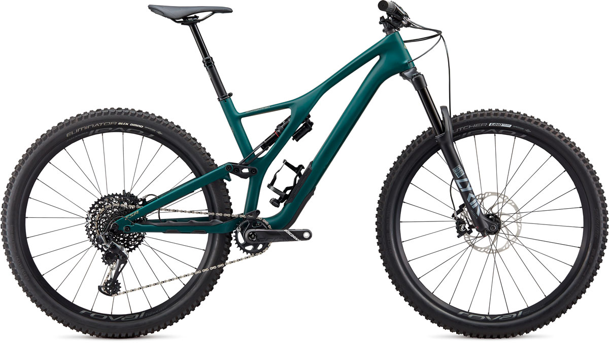 "horské kolo Specialized Stumpjumper ST Carbon Downieville LTD 29"" 2020 satin green/spruce"