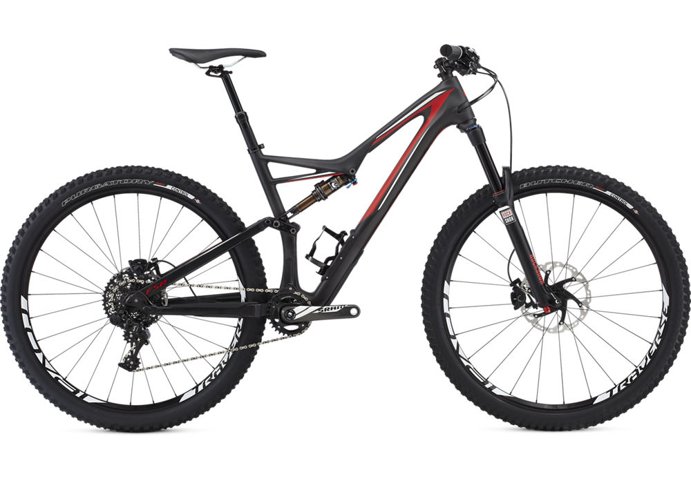 horské kolo Specialized Stumpjumper FSR Expert Carbon 29 2016 satin carbon/red/white