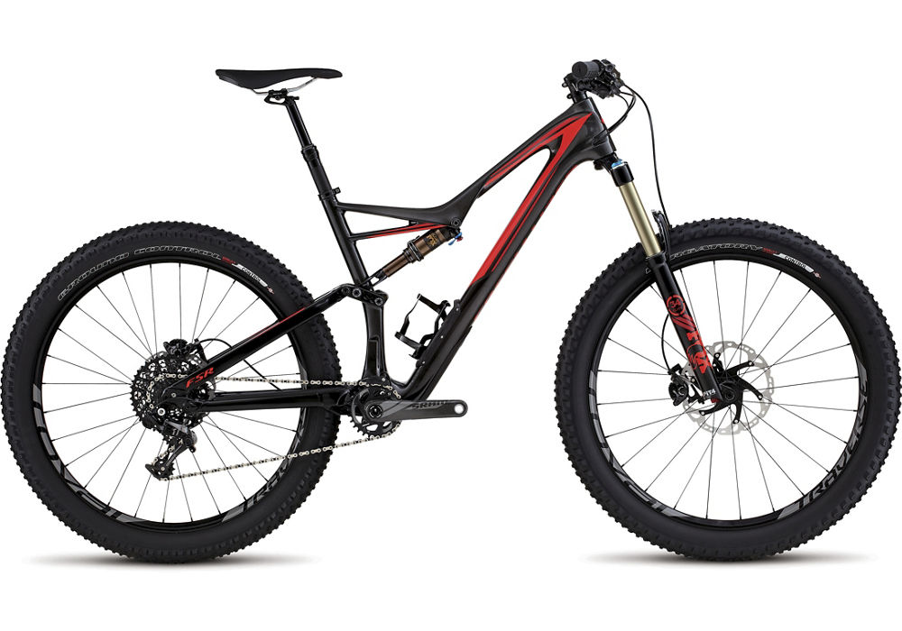 horské kolo Specialized Stumpjumper FSR Expert Carbon 6fattie 2016 gloss/carbon/red/red