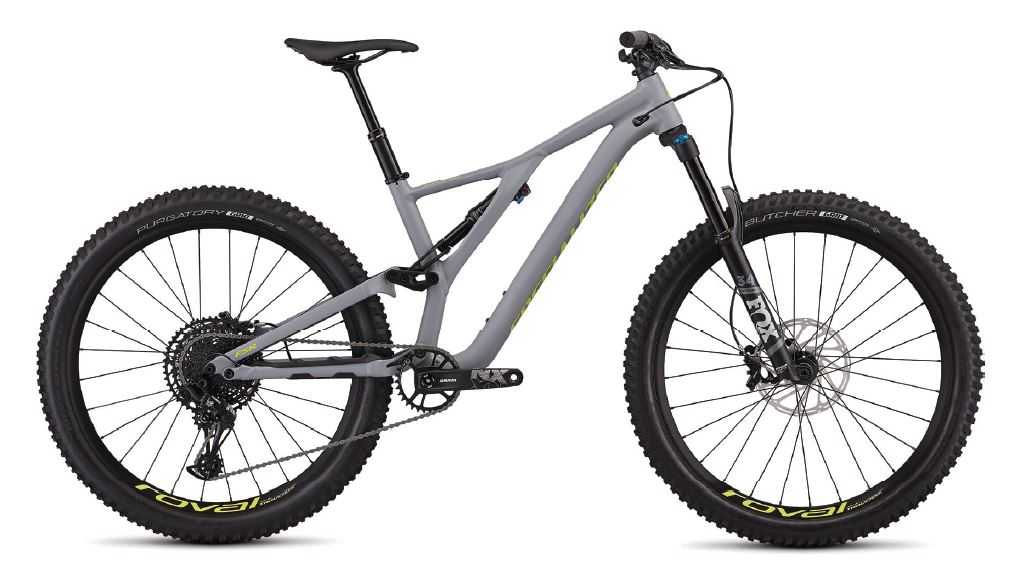 "horské kolo Specialized Stumpjumper FSR LT Comp 27,5"" 2019 gray/yellow"