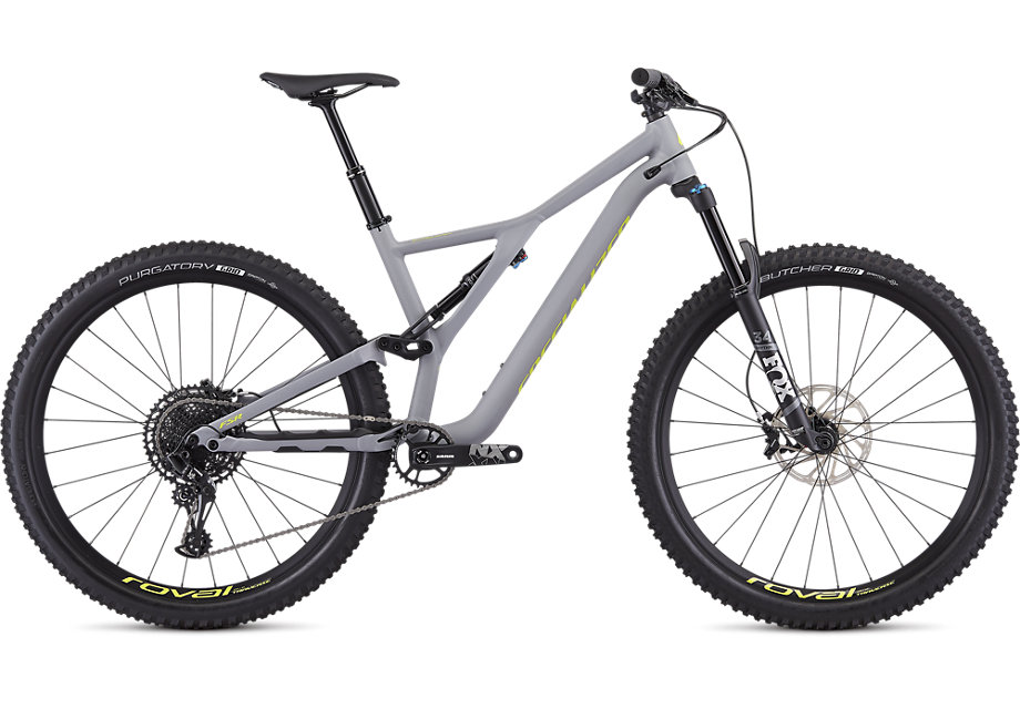 "horské kolo Specialized Stumpjumper FSR LT Comp 29"" 2019 gray/yellow"