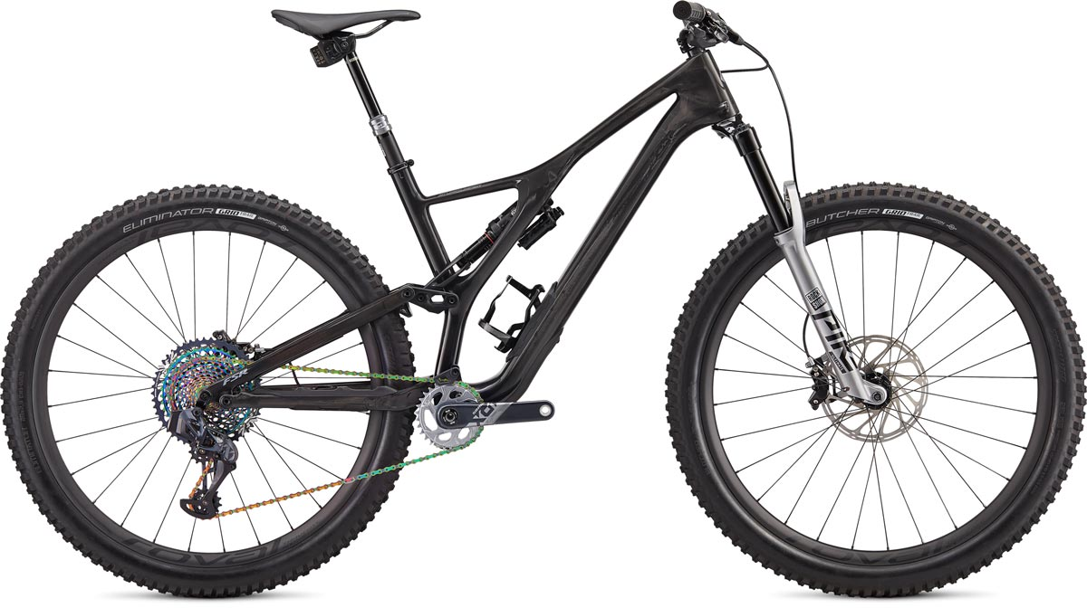 "horské kolo Specialized S-Works Stumpjumper Carbon SRAM AXS 29"" 2020 gloss carbon/silver"