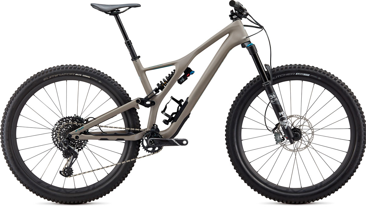 "horské kolo Specialized Stumpjumper Carbon Pemberton LTD 29"" 2020 satin stone/blue"