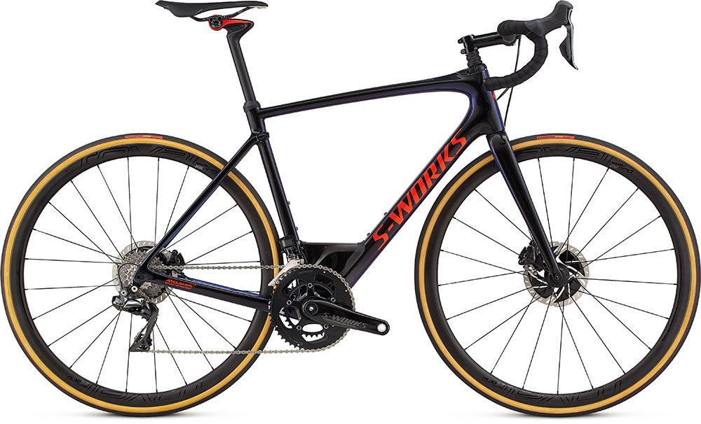 silniční kolo Specialized S-Works Roubaix Di2 2018 gloss black/chameleon/red