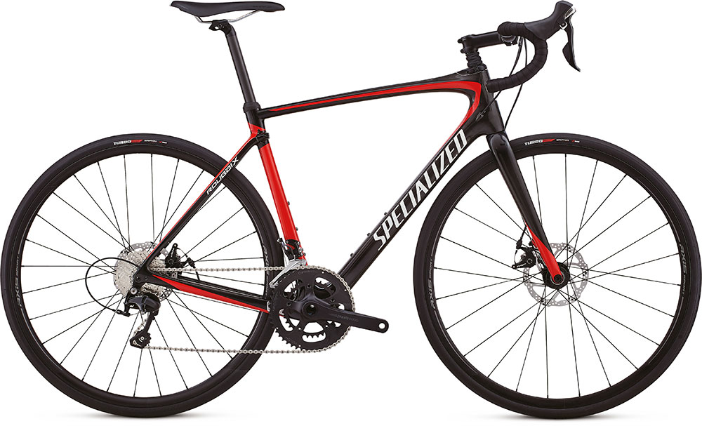 silniční kolo Specialized Roubaix Sport 2018 gloss carbon/red/white