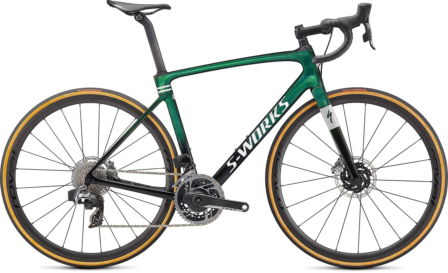 silniční kolo Specialized S-Works Roubaix eTap 2021 gloss green/spectraflair