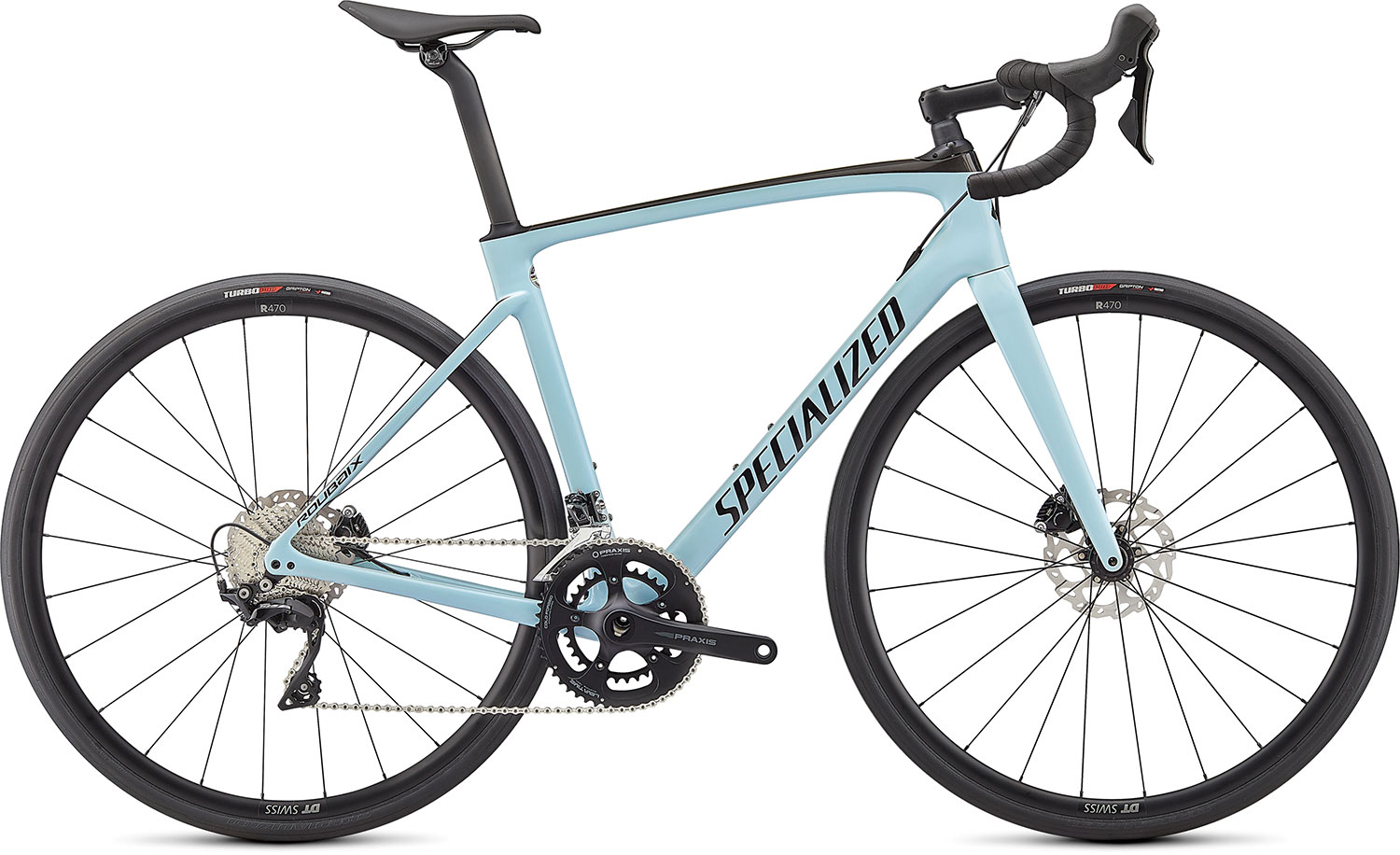 silniční kolo Specialized Roubaix Sport 2021 gloss blue/carbon/black