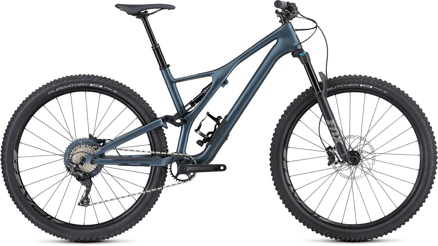 "horské kolo Specialized Stumpjumper FSR ST Comp Carbon 29"" 2019 satin/battleship/taupe"