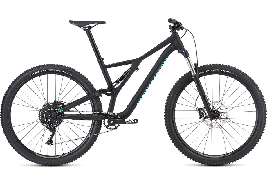 "horské kolo Specialized Stumpjumper FSR ST 29"" 2019 satin gloss black/blue"