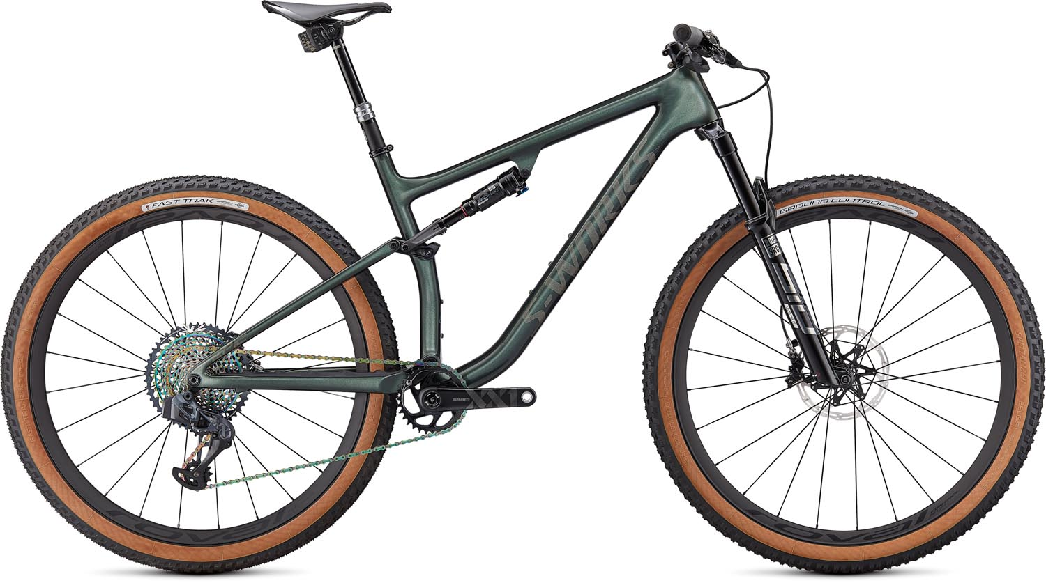 "horské kolo Specialized S-Works Epic Evo 29"" 2021 gloss oak green/dust"