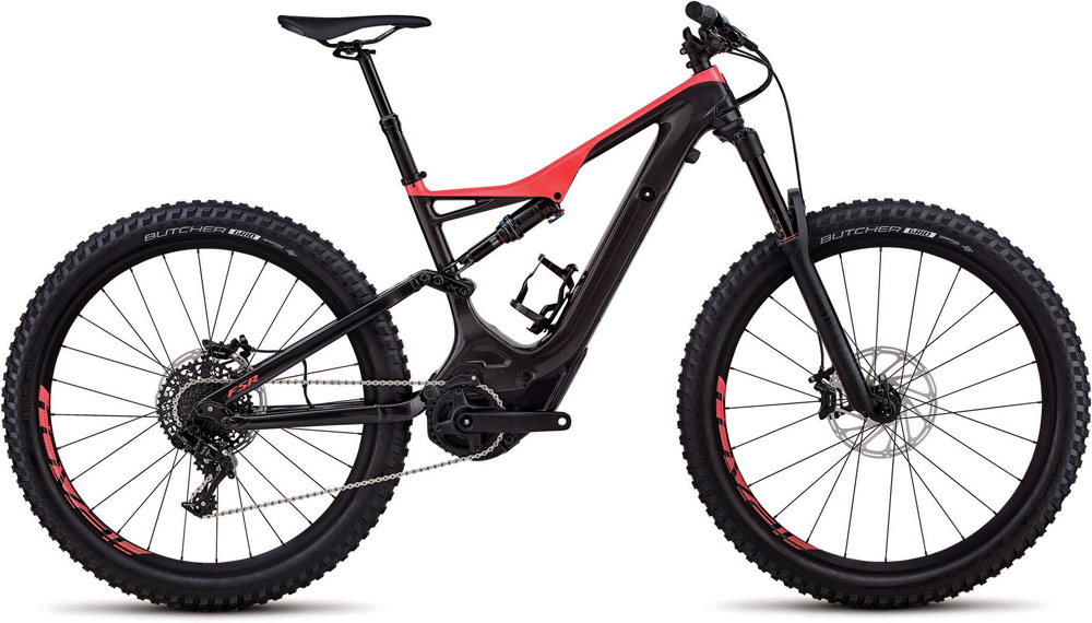 horské elektrokolo Specialized Levo FSR Comp Carbon 6fattie 2018 gloss carbon/red