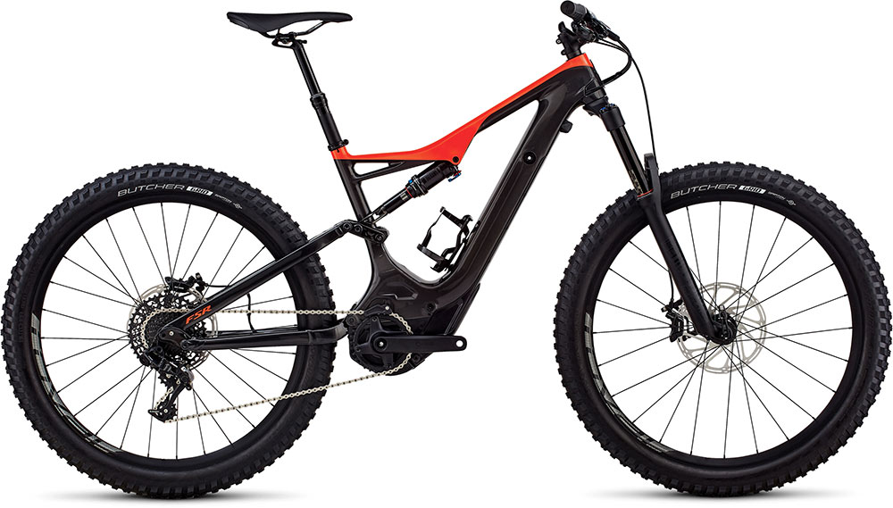 horské elektrokolo Specialized Levo FSR Comp Carbon 6fattie 2018 gloss carbon/rocket red