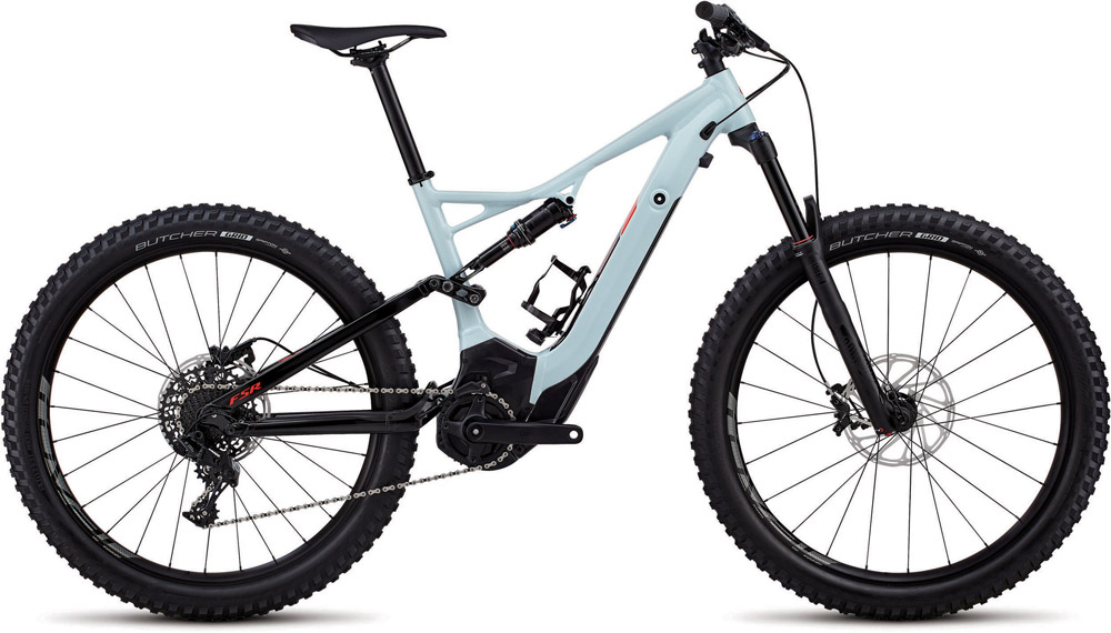 horské elektrokolo Specialized Levo FSR 6fattie 2018 ice blue/red