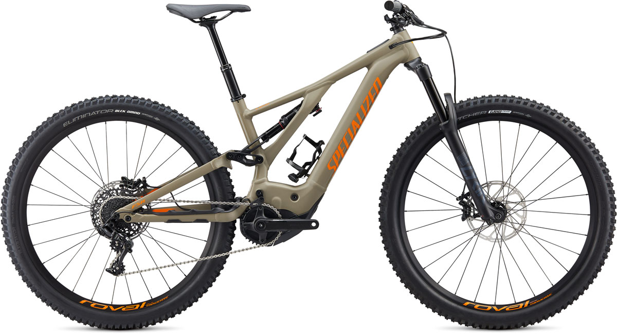 "horské elektrokolo Specialized Levo FSR Comp 29"" 2020 taupe/orange"