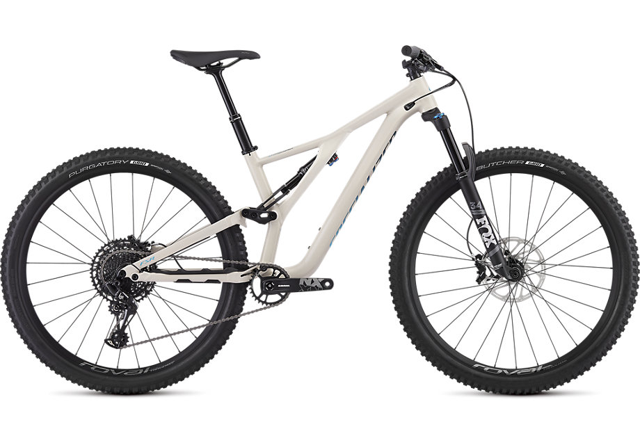 "horské kolo dámské Specialized Stumpjumper FSR Women's ST Comp 29"" 2019 gloss satin white/blue"