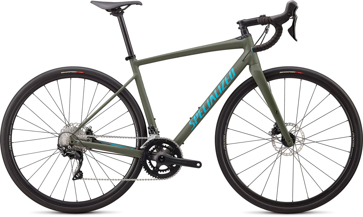 silniční kolo Specialized Diverge E5 Comp 2020 satin oak green/aqua