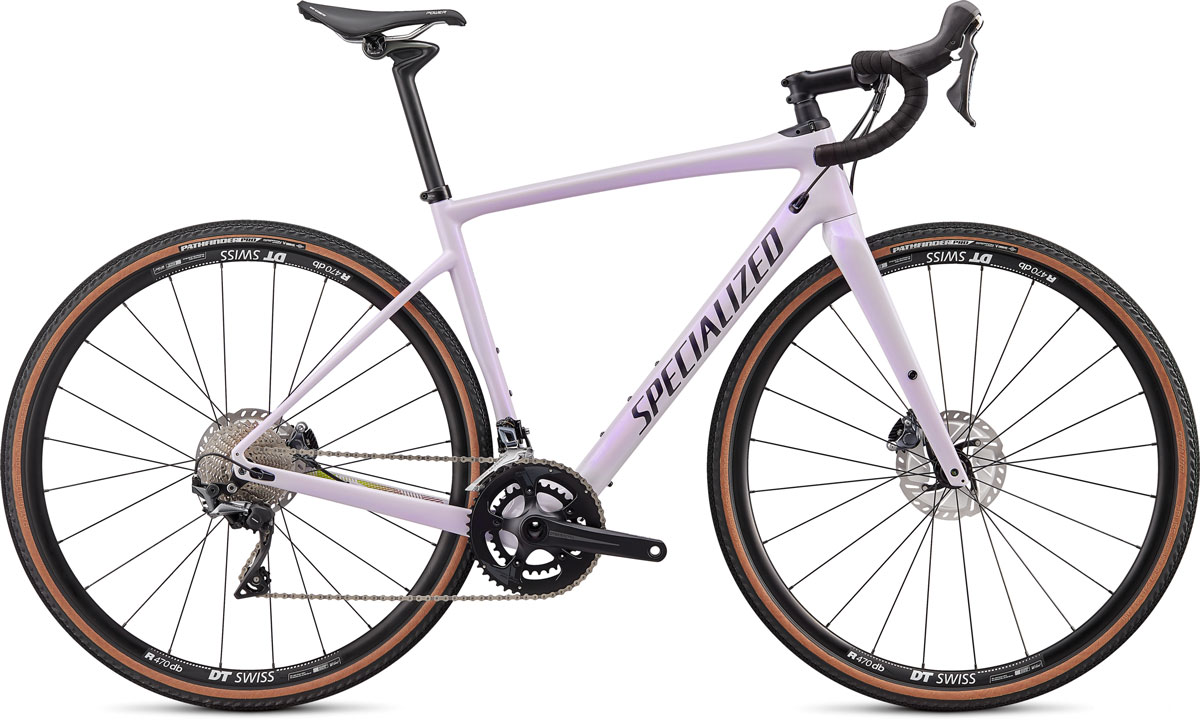 silniční kolo Specialized Diverge Comp Carbon 2020 gloss lilac/black