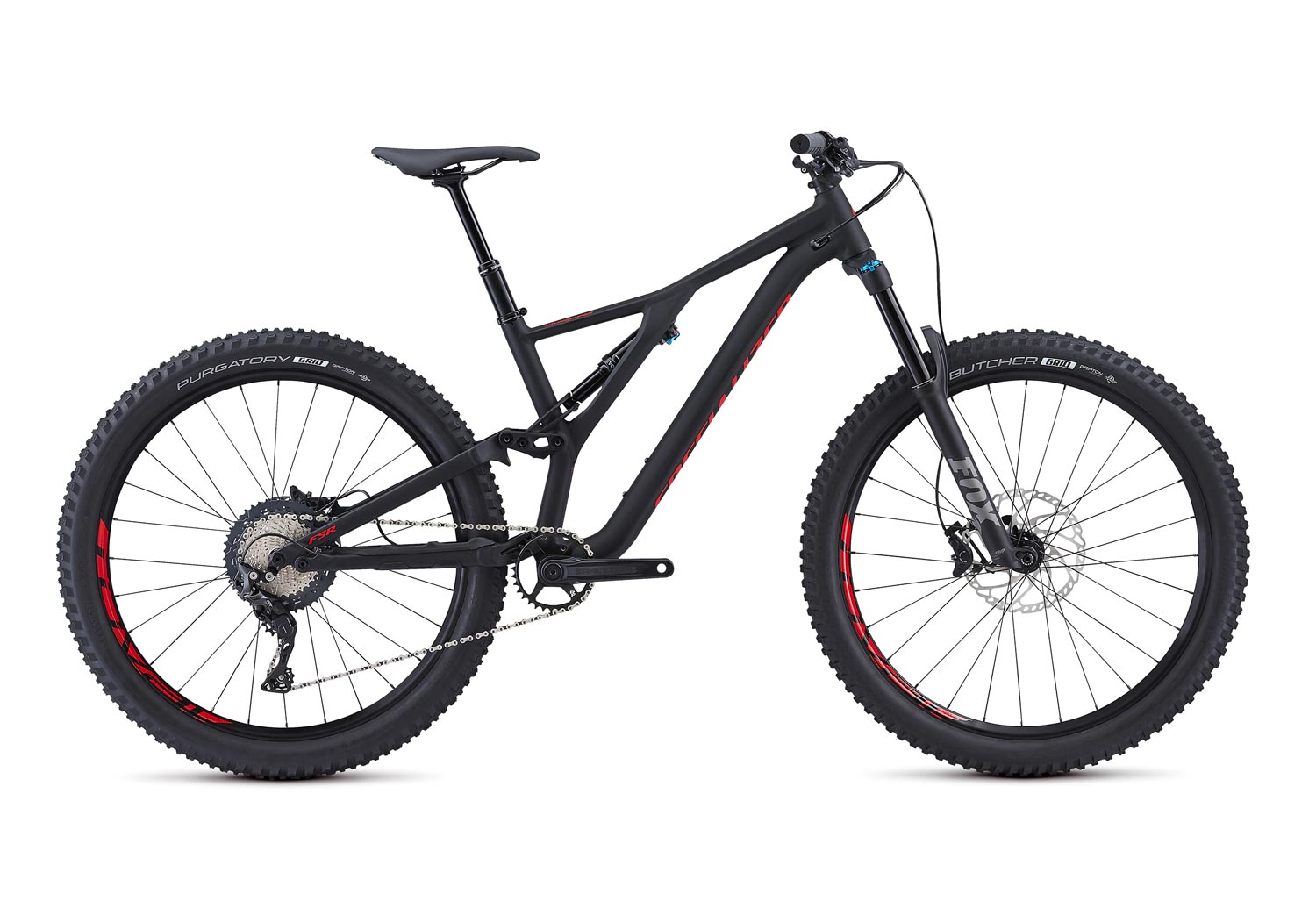 "horské kolo Specialized Stumpjumper FSR LT Comp 27,5"" 2019 satin/black/red"