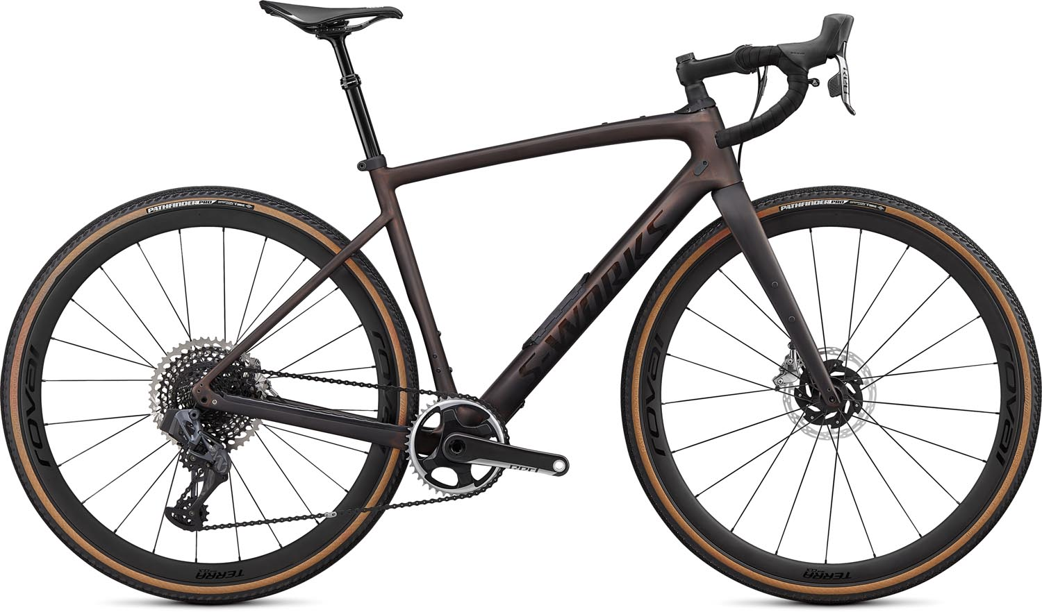 silniční kolo Specialized S-Works Diverge Carbon 2021 satin carbon/pearl/chrome