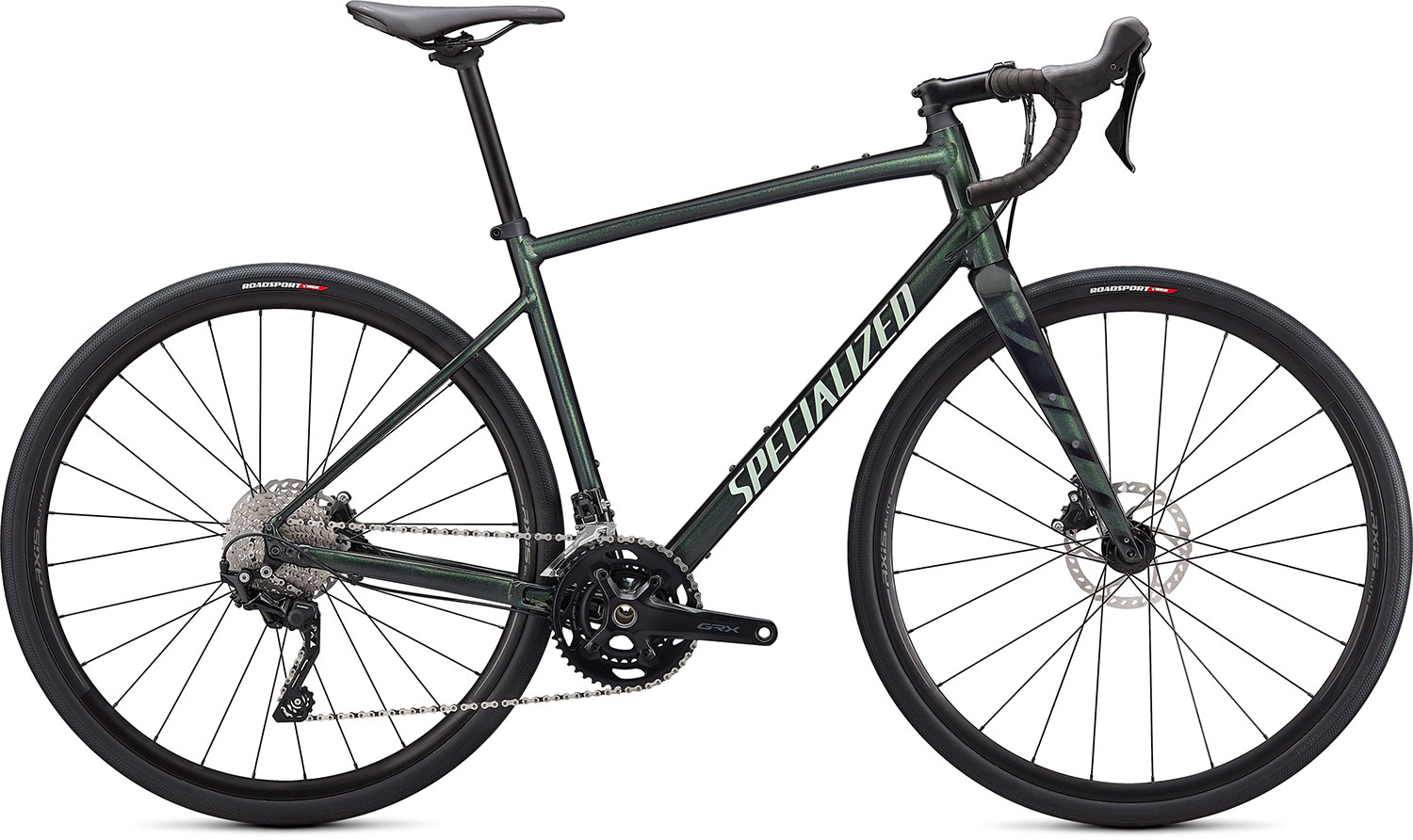 silniční kolo Specialized Diverge E5 Elite 2021 gloss oak green/spruce