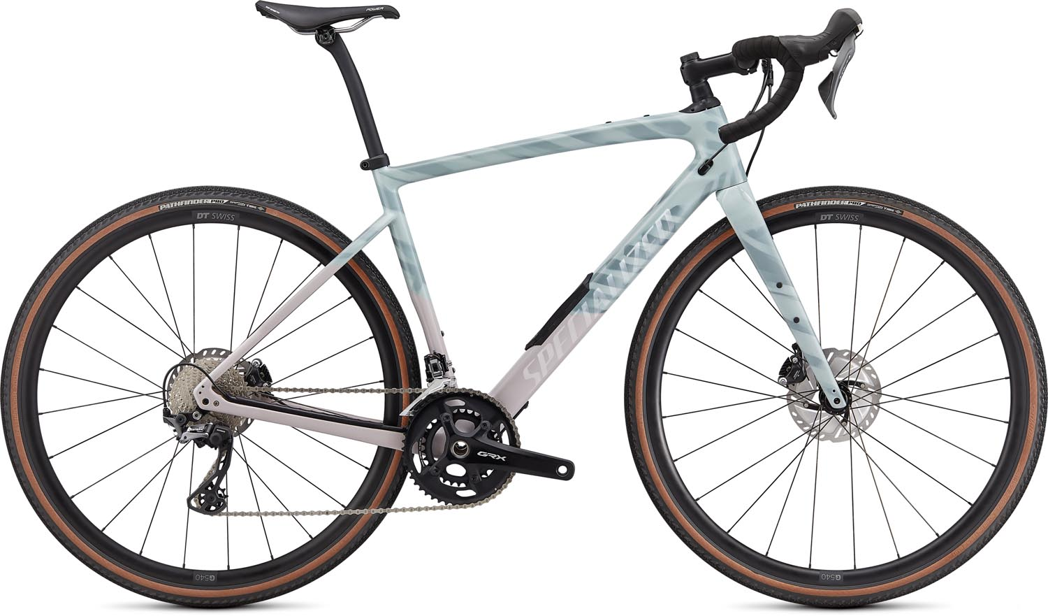 silniční kolo Specialized Diverge Comp Carbon 2021 gloss ice blue/clay