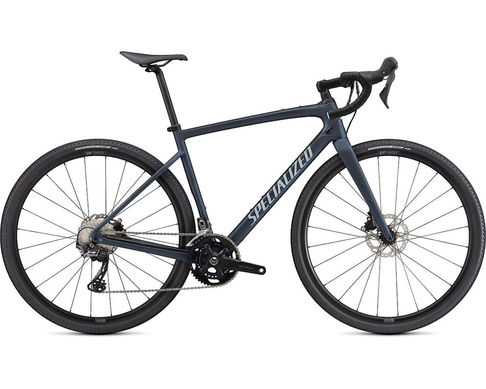 silniční kolo Specialized Diverge Sport Carbon 2021 satin blue/chrome