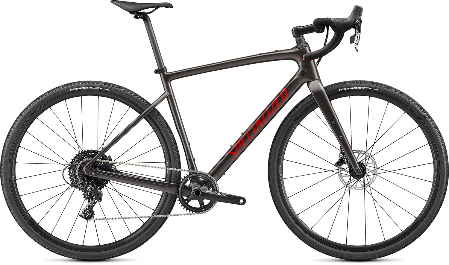 silniční kolo Specialized Diverge Carbon 2021 gloss smoke/red