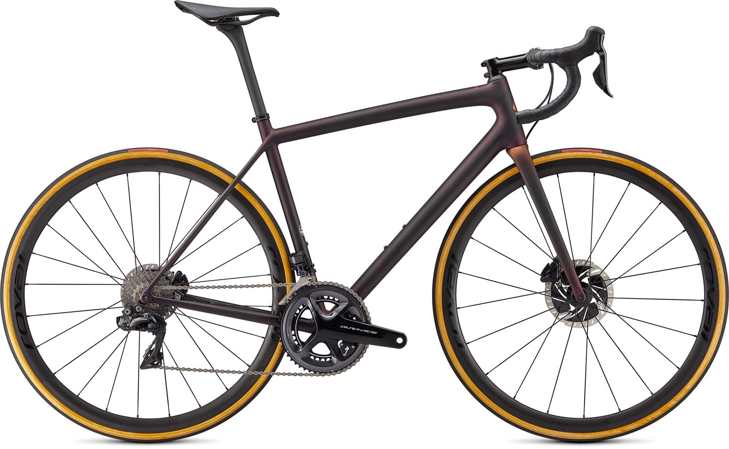 silniční kolo Specialized S-Works Aethos Di2 2021 satin carbon/red/bronze