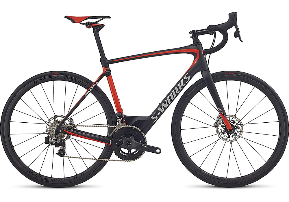 silniční kolo Specialized S-Works Roubaix eTap 2018 carbon/rocket red/silver