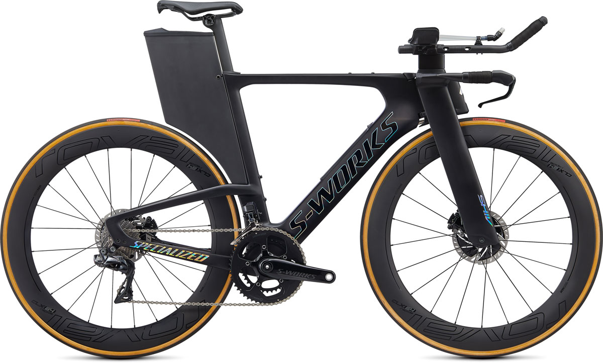 silniční kolo Specialized S-Works Shiv Disc Di2 2020 satin carbon/foil