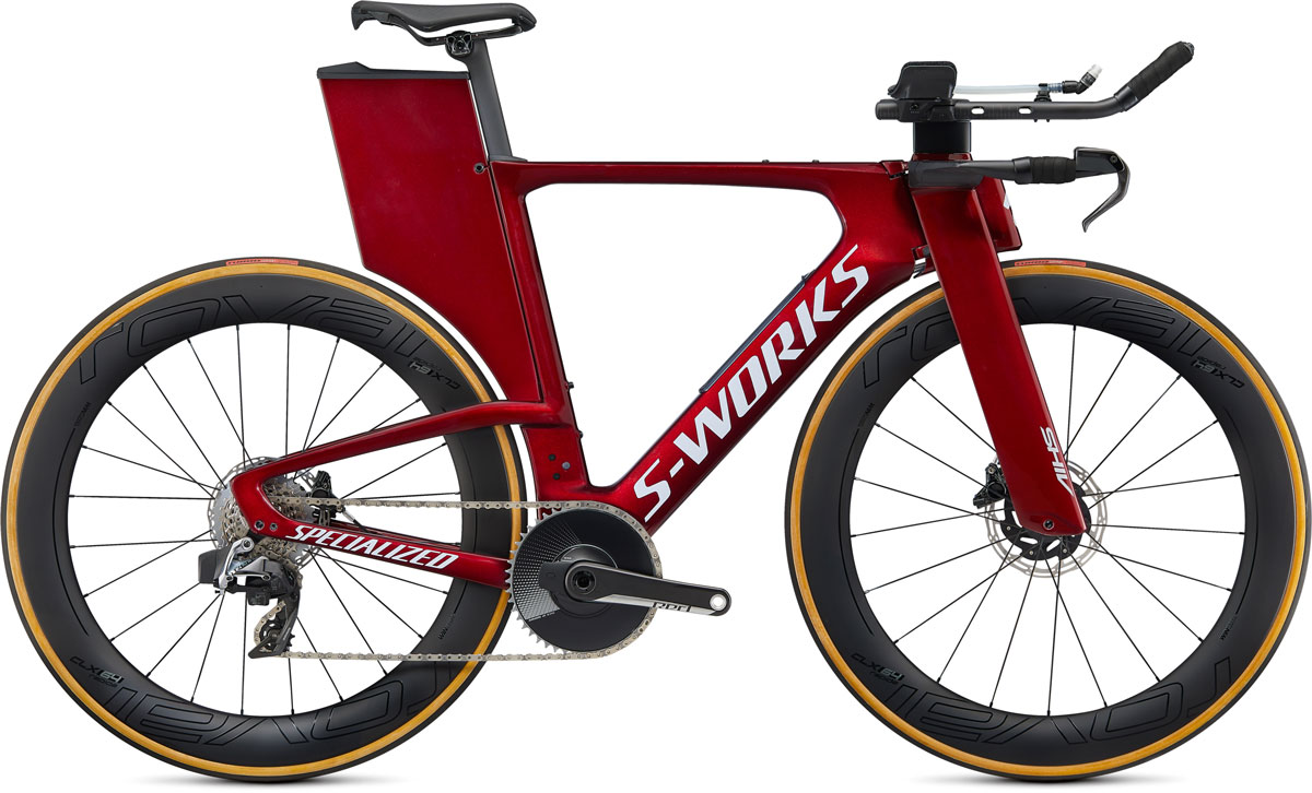 silniční kolo Specialized S-Works Shiv Disc eTap 2020 gloss crimson/gray