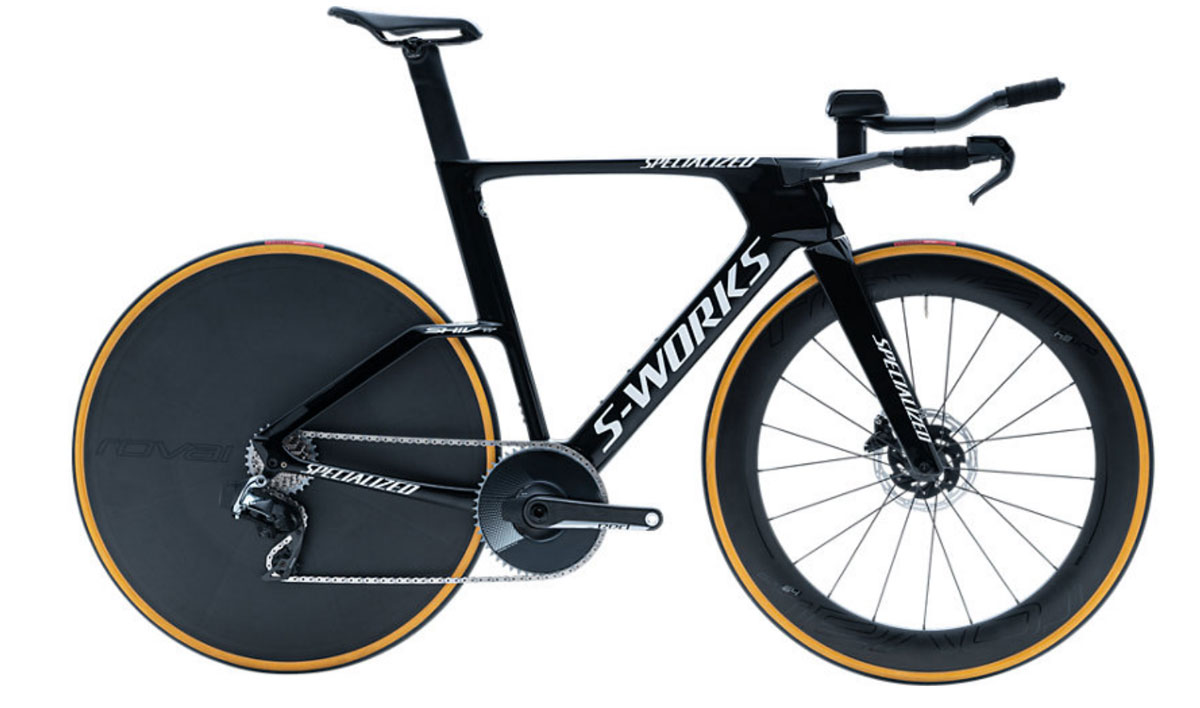 silniční kolo Specialized S-Works Shiv TT Disc eTap 2020 gloss black/white