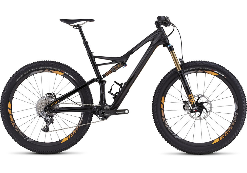 horské kolo Specialized S-Works Stumpjumper FSR Carbon 6fattie 2016 gloss/carbon/charcoal/orange