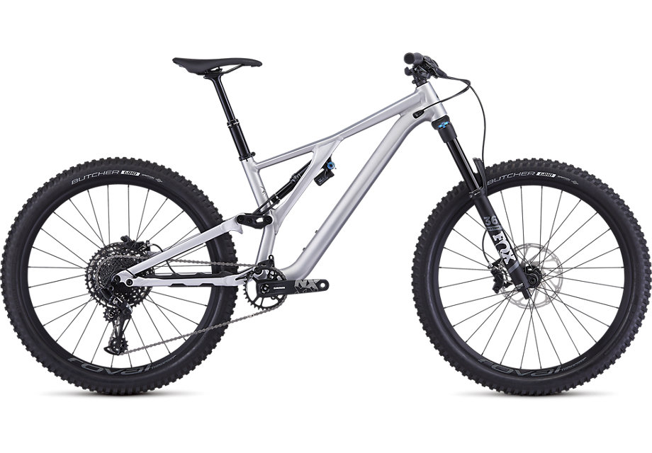 "horské kolo Specialized Stumpjumper FSR LT Comp Evo 27,5"" 2019 satin brushed/blk"