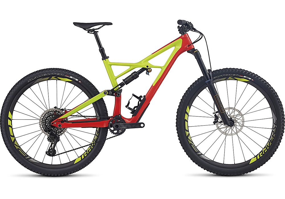 "horské kolo Specialized S-Works Enduro FSR Carbon 29""/6fattie 2017 gloss nordic red/hyper/black"