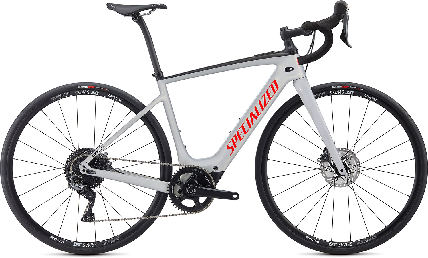 silniční elektrokolo Specialized Creo SL Comp Carbon 2021 gloss dove gray/red