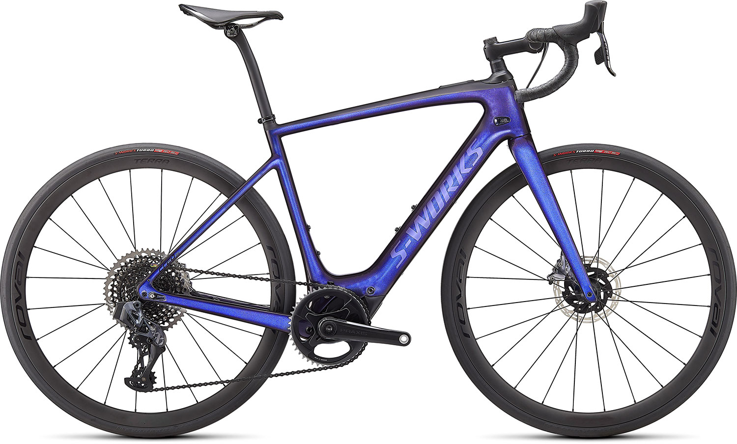 silniční elektrokolo Specialized S-Works Creo SL Carbon 2021 gloss blue/carbon