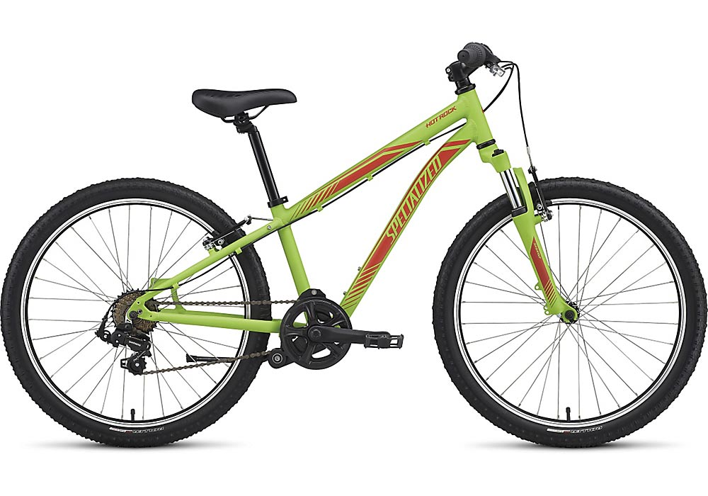 dětské kolo Specialized Hotrock 24 7 speed 2017 monster green/nordic red