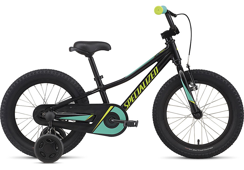 "dětské kolo Specialized Riprock Coaster 16"" 2018 gloss black/emerald/hyper green"